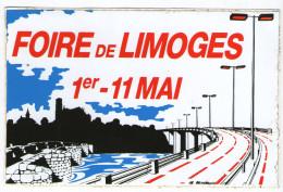 AUTOCOLLANT  87 FOIRE DE LIMOGES     1er   11 MAI - Pegatinas