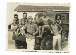 Real Small Photo.Transport.Truck Military Equipage - Guerre, Militaire