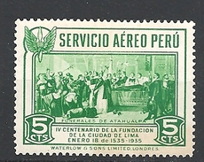 PERU    1935 Airmail - The 400th Anniversary Of Founding Of Lima     USED - Peru