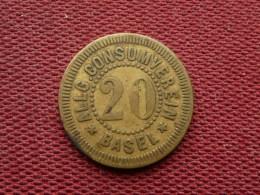 SUISSE Monnaie De Nécessité De BALE - Monétaires / De Nécessité