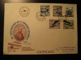 1961 Edifil 1401/5 Aviacion Hidroavion Caza Seaplane Aviation FDC SPD Spain - FDC