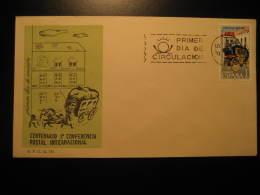 1963 Edifil 1508 Conferencia Postal Internacional Stage Coach Dilegence FDC SPD Spain - FDC