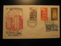 1963 Edifil 1494/7 Monasterio De Santa Maria De POBLET Tarragona Monastery Convent Abbey FDC SPD Spain - FDC
