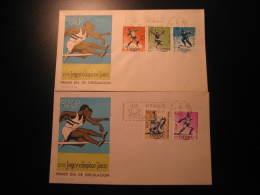 1964 Edifil 1617/21 Innsbruck Austria Tokyo Japan Olympic Games Olympics Judo Ski Skiing Athletics 2 FDC SPD Spain - FDC