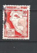 PERU    1938 Local Motives  Map    USED   Peru Has The Road Network Tallest In The World 1920-1936 - Peru