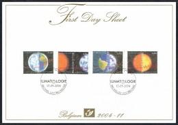 FDS 2004 - 11 - COB N° 3278/81 - Climatologie: Climat Et CO2, Relation Terre-Soleil, Terre, Soleil. - FDC