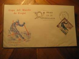 1977 Edifil 2408 Granada Sierra Nevada Copa Del Mundo De Esqui Ski Skiing World Cup Championship SPD FDC Spain - FDC