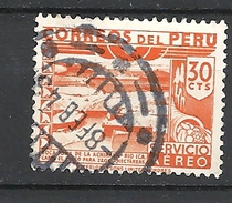 PERU     1938 Airmail - Local Motives  USED RIO ICA - Peru