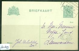 HANDGESCHREVEN BRIEFKAART Uit 1919 * GELOPEN Van TREINSTEMPEL AMSTERDAM - EMMERIK NAAR LEEUWARDEN   (10.509) - Periode 1891-1948 (Wilhelmina)