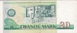 ALLEMAGNE - RDA - BILLET DE 20 MARK - 1975 - 20 Deutsche Mark