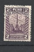 PERU   1934-1-35 PRO UNEMPLOYED  YVERT 296A   USED VIOLET -BRUN - Peru