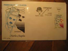 1989 Edifil 3014 Charlie Chaplin Charlot Cine Cinema Film SPD FDC Spain - FDC