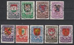 538/546 Wapenschilden/Armoiries Des 9 Chefs Lieux De Provance Oblit/gestp Centrale