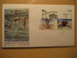 1995 Edifil 3395/6 Arqueologia Taula Torralba Salort Menorca Balears Cueva Menga Antequera Malaga Archeology Archaeology - FDC