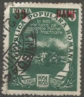 Romania - 1952 5yr-plan Surcharge  35L/5L Used - 1948-.... Repúblicas