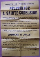 Wierre-Effroy.Affiche Pélerinage à Sainte-Godeleine.Boulogne. - Affiches