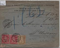 1879 Sitzende Helvetia/Helvétie Assise Nr. 37 2c + 38 10c N.N. Von Porrentruy Pour St. Ursanne (Haasenstein & Vogler) - 1862-1881 Sitzende Helvetia (gezähnt)