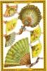 SCRAPS A70 Fans Ventilateurs Sheet Decoupis Feuille Mamelok Decoupage Glanzbilder Oblaten Victorian - Scrapbooking