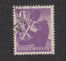 Alliierte Besetzung Berlin Und Brandenburg Nr. 2 A II - Mit Plattenfehler Feld 26 Gestempelt (80,- Euro) - Zone Soviétique