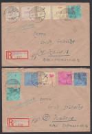 SBZ Lokalausgaben Großräschen 1. Offizielle Ausgabe MiNr. 1/12, Ohne 24 Pfg. Auf R-Brief Mit Aushifs-R-Zettel - Soviet Zone