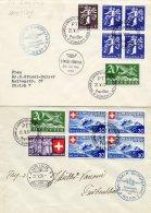 7 Lettres .Poste Aérienne Swwissair-Europaflug NORD-SUD-OUEST. Cote Env.900frs (1007) - Airmail