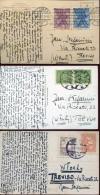 14059 Poland,  3 Cards Circuled  1928-1931 - 1919-1939 Republik