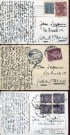14062 Poland,  3 Cards Circuled  1928-1931 - 1919-1939 Republic