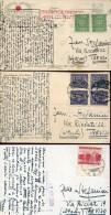 14065 Poland,  3 Cards Circuled  1928-1931 - 1919-1939 Republik