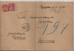1881 Sitzende Helvetia/Helvétie Assise 32/24 38/30 - Stempel. Sirnach N.N. Nachnahme 2.II.81 - Lettres & Documents
