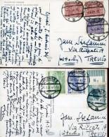 14067 Poland,  2 Cards Circuled  1928-1931 - 1919-1939 Republik