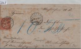 1882 Sitzende Helvetia/Helvétie Assise 48/40 Faserpapier - Stempel: Bäretschweil (Bäretswil) ZH 29.I.82 - 1862-1881 Sitzende Helvetia (gezähnt)