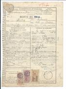 DOCUMENT.. HARAS DU PIN (61).. Certificat D'Origine MONTE De 1938 Etalon FIDUS - Historical Documents