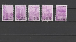 Suriname 1987 Paintings Rembrandt  Set Of 5 MNH