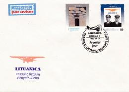 Litauen, 1993, 528/30, Tag Der Einheit. MNH ** FDC - Litouwen