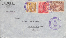 Luftpost - Brief Von A.Reiss, San Salvador An Papierfabrik Wattens, Tirol; 1938 - Mexiko