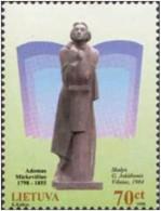 LITUANIA 1998 - POETA ADAM MICKIEWICZ - YVERT Nº 600 - Lithuania