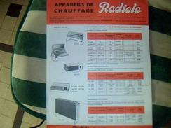 Publicite Radiola Chauffage Radiateur Annee 1966 Tract - Publicidad