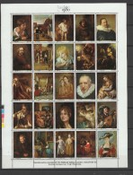 UK England 1980 Paintings Rembrandt, Rubens, De Hoogh Etc., London '80 Vignette Sheetlet MNH