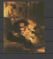 Antigua 1980 Paintings Rembrandt S/s MNH