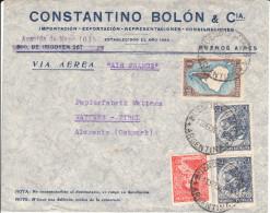 Luftpost - Brief Von Constantino Bolón & CIA., Buenos Aires An Papierfabrik Wattens, Tirol; 1938 - Argentinien