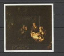 Dominica 1980 Paintings Rembrandt S/s MNH