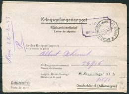 1943 Belgium Brussel Kriegsgefangenenpost, Prisonniers De Guerre, Stalag 4A Censor Germany Deutschland POW Camp - Belgium