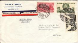 Luftpost - Brief Von Oscar L. Mertz, Mexico An Bunzl & Biach, Wattens ( Tirol ); 1938 - Mexiko