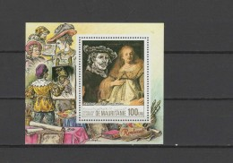 Mauritania 1984 Paintings Rembrandt S/s MNH