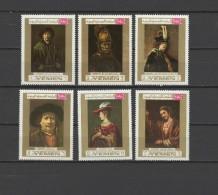 Yemen Kingdom 1969 Paintings Rembrandt Set Of 6 MNH