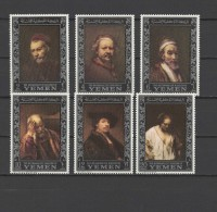 Yemen Kingdom 1967 Paintings Rembrandt Set Of 6 MNH
