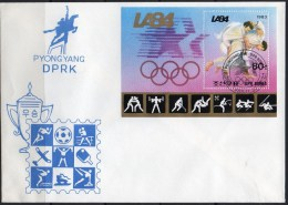Piktogramme Olympia 1984 Los Angeles Korea Block 156 FDC 10€ Judo Ringen Schießen Hoja Box Sport Bloc M/s Sheet Bf Corea