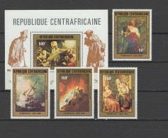 Central Africa 1981 Paintings Rembrandt Set Of 4 + S/s MNH