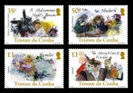 TRISTAN DA CUNHA 2016 - William Shakespeare - 4 Val Neufs // Mnh - Tristan Da Cunha