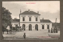 France La Gare De Commercy / Voyagée Sous Pli En Mai 1919 / Ed. Stienne à Commercy / Animée Fiacre Chevaux Calèche - Stazioni Senza Treni